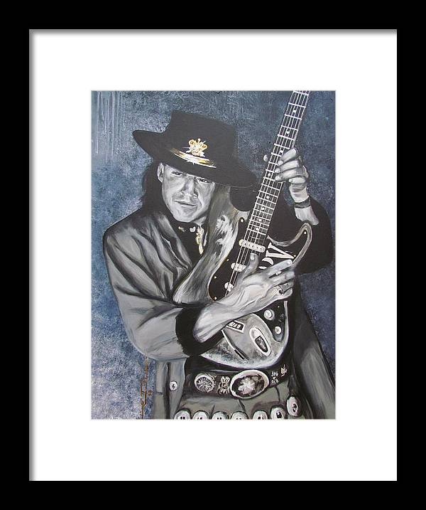 Stevie Ray Vaughan Framed Print featuring the painting Srv - Stevie Ray Vaughan by Eric Dee