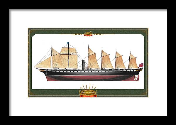 Great Britain Framed Print featuring the mixed media SS Great Britain by The Collectioner