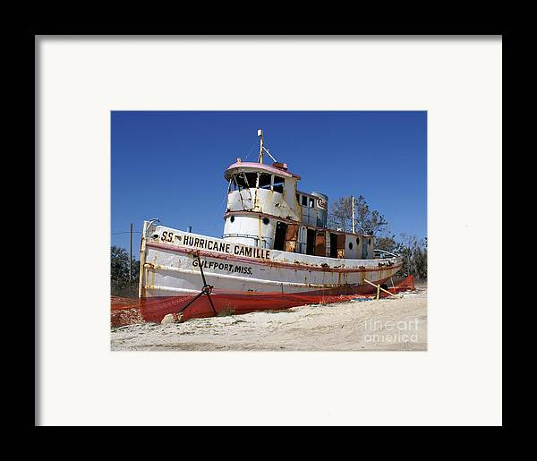Ship Framed Print featuring the photograph S.s. Hurricane Camille by Debbie May