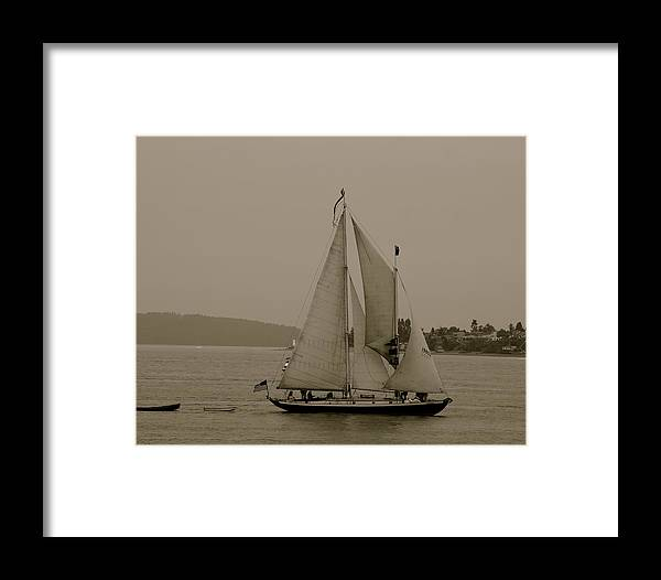 Tall Ships Framed Print featuring the photograph S.s.s. Rejoice by Sonja Anderson