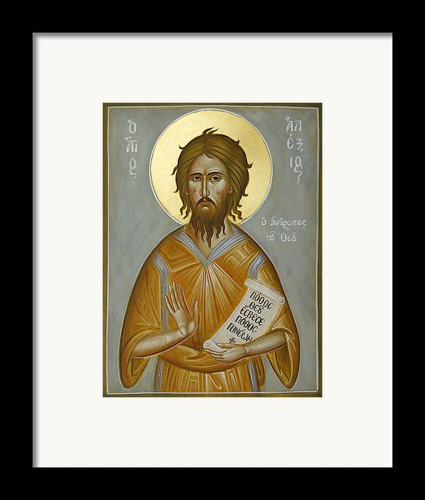 Icon Framed Print featuring the painting St Alexios The Man Of God by Julia Bridget Hayes