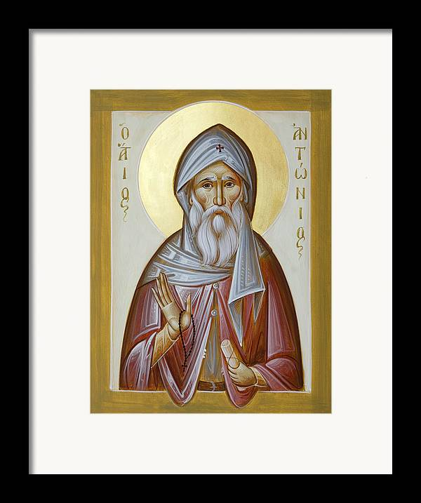 St Anthony The Great Framed Print featuring the painting St Anthony The Great by Julia Bridget Hayes
