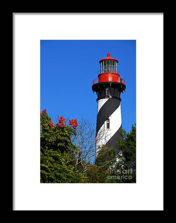 Lighthouse Framed Print featuring the photograph St. Augustine Lighthouse by Georgia Nick
