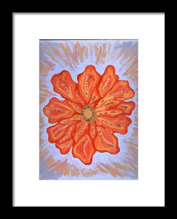 Flower Framed Print featuring the painting St Barth by Laura Lillo