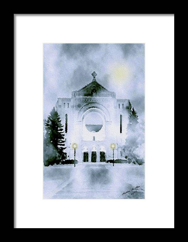 Smudgeart Framed Print featuring the painting St. Boniface Cathedral by Madeline Allen - SmudgeArt