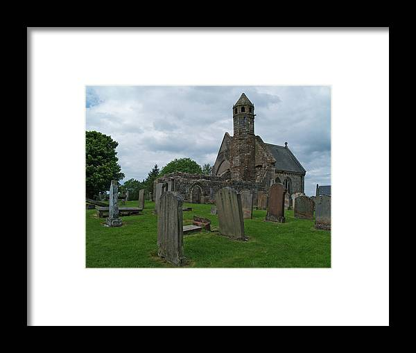 Ancient Framed Print featuring the photograph St Brides At Douglas by Steve Watson