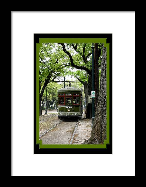 New Orleans Framed Print featuring the photograph St. Charles Street Car by Linda Kish