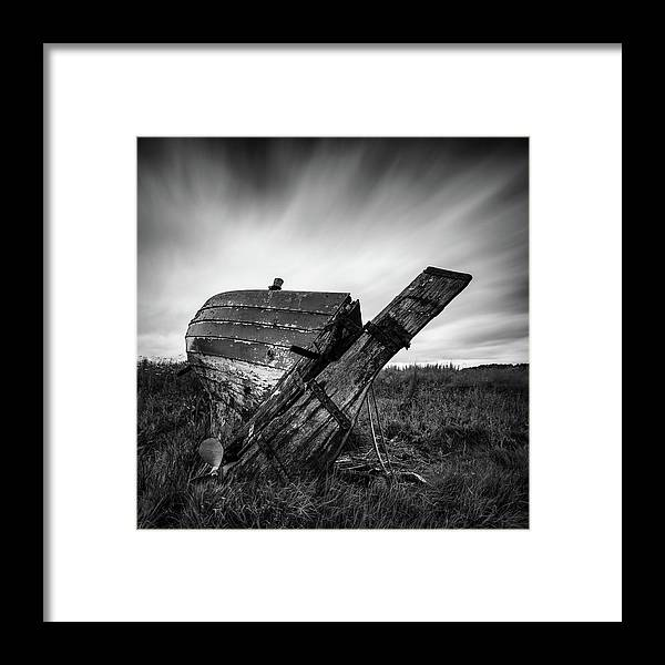 Fishing Boat Framed Print featuring the photograph St Cyrus Wreck by Dave Bowman