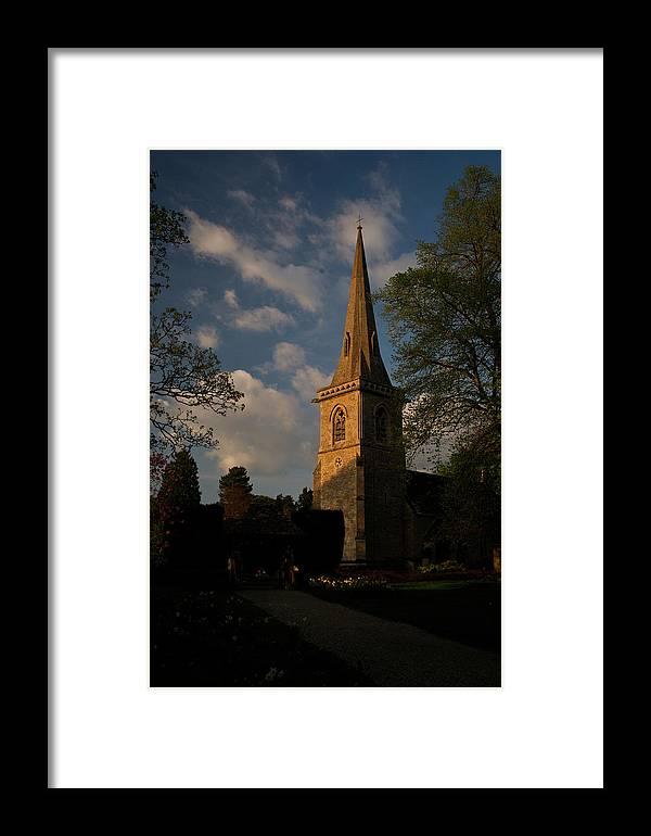 St Mary\'s Framed Print featuring the photograph St Davids Church At Sundown by Douglas Barnett