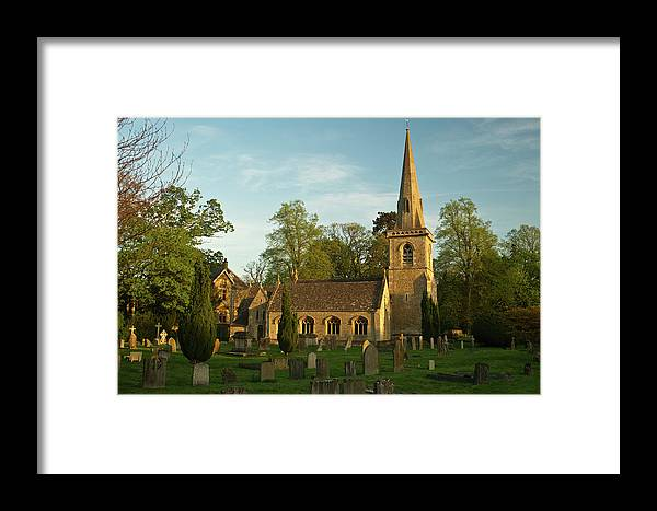 St Mary's Framed Print featuring the photograph St Davids Church Cemetery 3 by Douglas Barnett