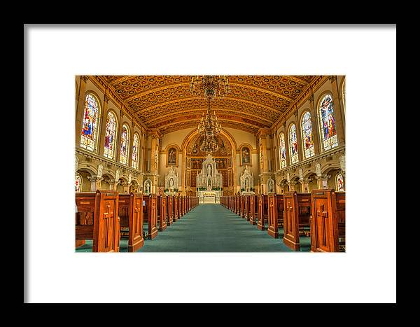Arch Framed Print featuring the photograph St Edward Interior by Paul LeSage