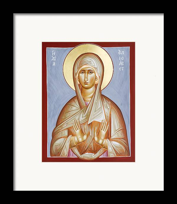 St Elizabeth Framed Print featuring the painting St Elizabeth by Julia Bridget Hayes