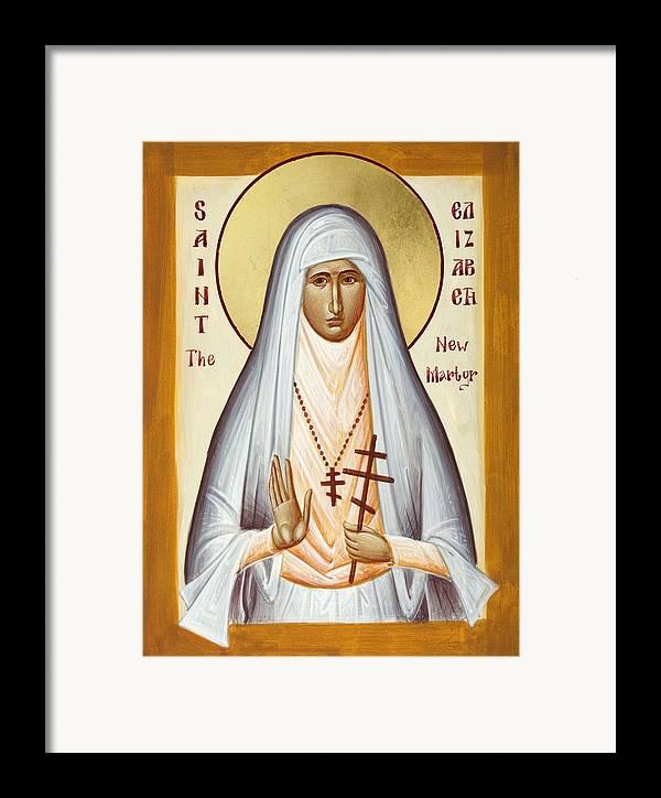 St Elizabeth The New Martyr Framed Print featuring the painting St Elizabeth The New Martyr by Julia Bridget Hayes