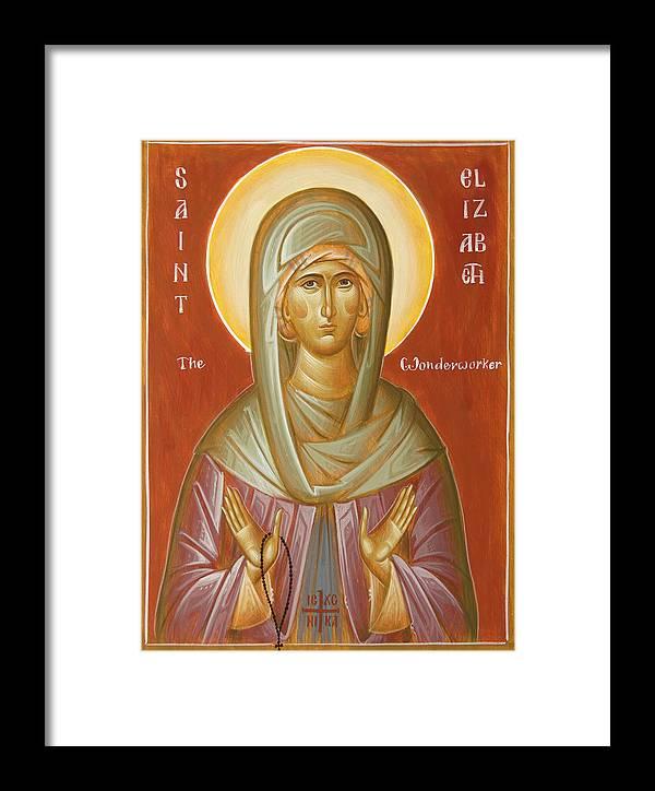 St Elizabeth The Wonderworker Framed Print featuring the painting St Elizabeth The Wonderworker by Julia Bridget Hayes