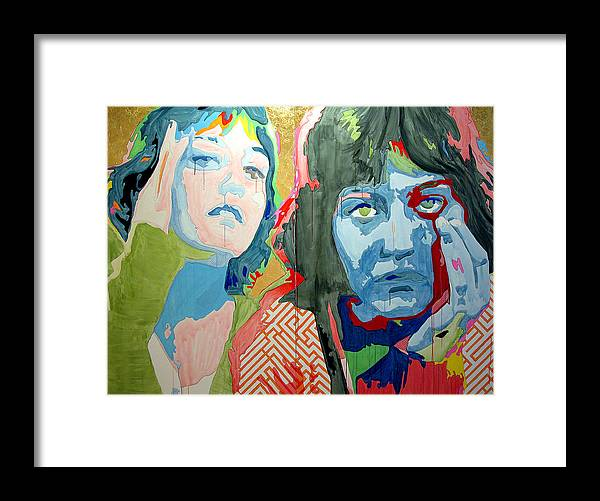 Portrait Framed Print featuring the painting St. Elsa by Pete Nawara