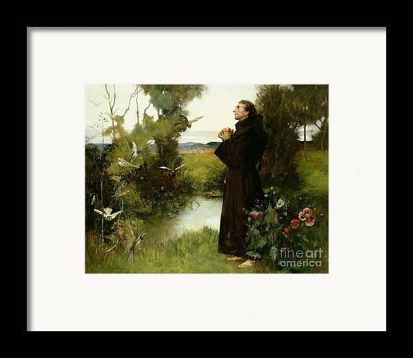 St. Francis Framed Print featuring the painting St. Francis by Albert Chevallier Tayler