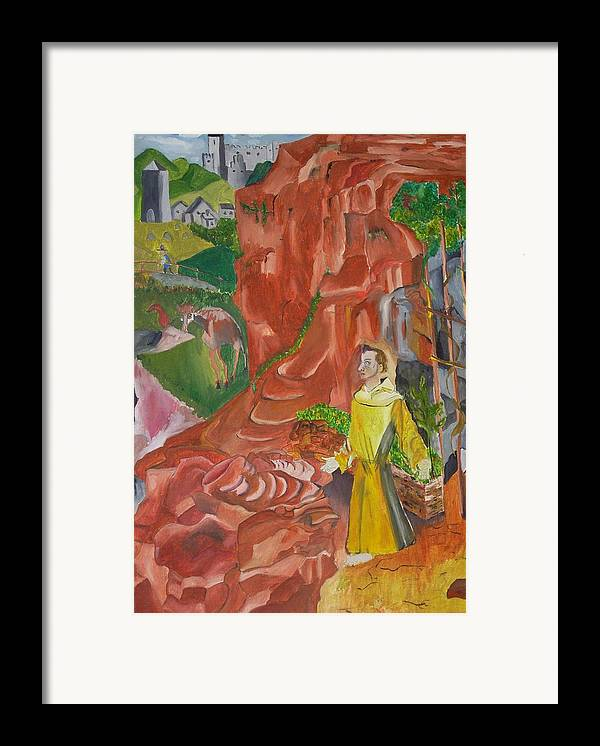 Framed Print featuring the painting St. Francis In Ectasy by Joseph Arico