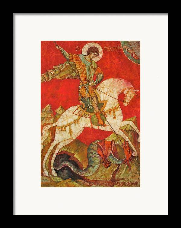 Fine Art Framed Print featuring the painting St George II by Tanya Ilyakhova