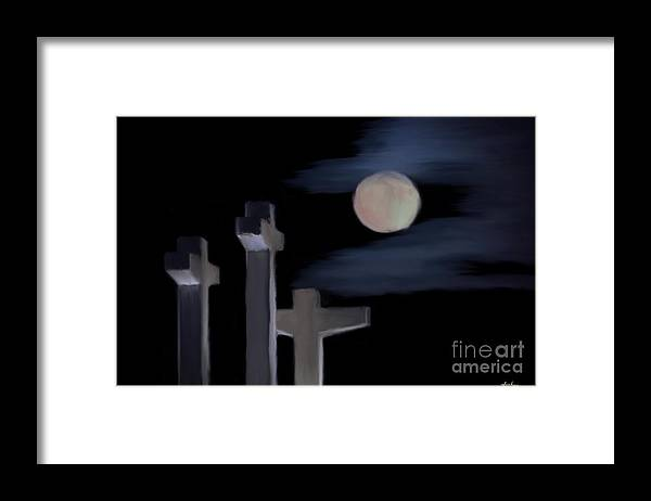 St Henry Framed Print featuring the painting St Henry Catholic Church by Jack Bunds