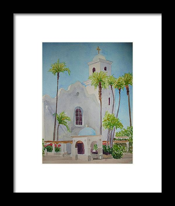 Church Framed Print featuring the painting St John Of The Cross by Ally Benbrook
