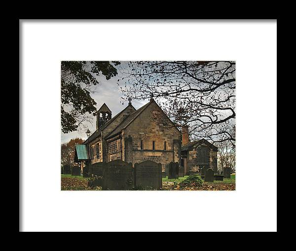 Church Framed Print featuring the photograph St John The Baptist Adel by Steve Watson