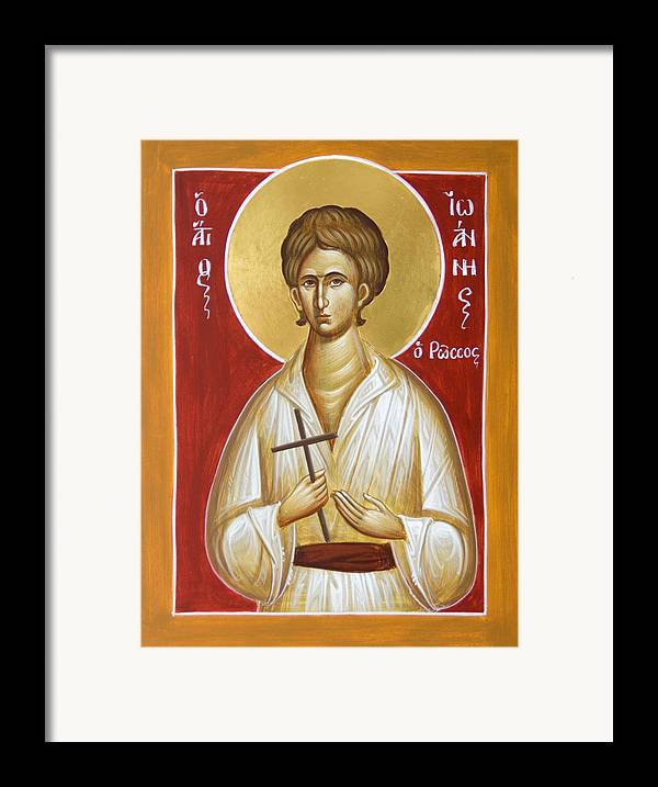 St John The Russian Framed Print featuring the painting St John The Russian by Julia Bridget Hayes