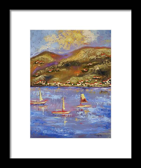 St. John Framed Print featuring the painting St. John Usvi by Ginger Concepcion