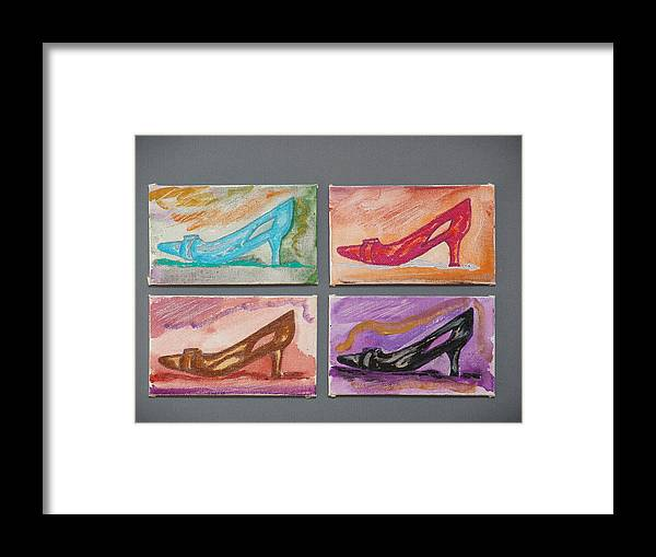Shoes Framed Print featuring the painting St Johns 5th Avenue by Kevin Callahan