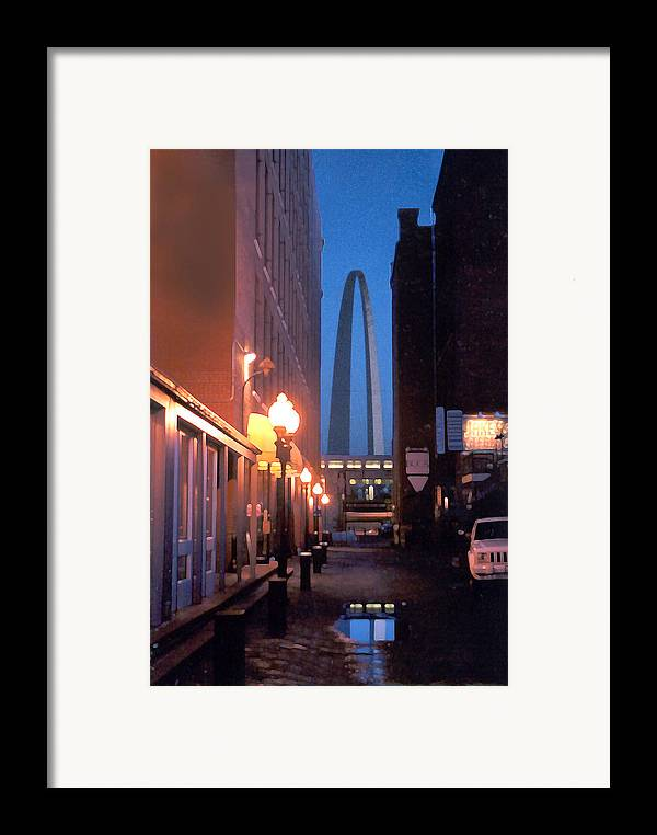 St. Louis Framed Print featuring the photograph St. Louis Arch by Steve Karol