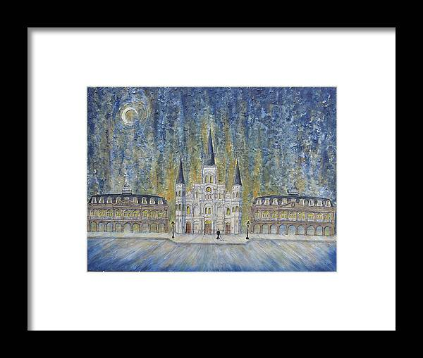 Structure Framed Print featuring the painting St. Louis Cathedral And Old Government Buildings by Catherine Wilson