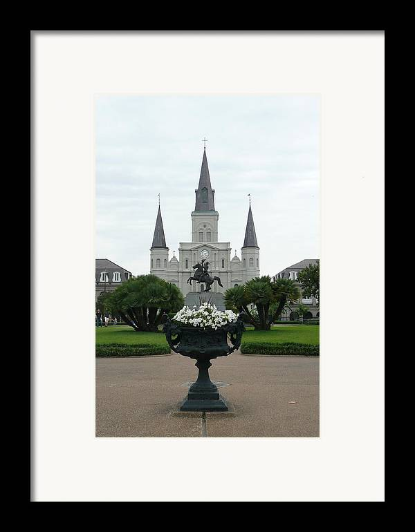 New Orleans Framed Print featuring the photograph St. Louis Cathedral New Orleans by Kathy Schumann