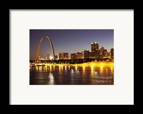Arch Framed Print featuring the photograph St Louis Skyline by Bryan Mullennix