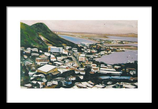 Historic Caribbean Island Framed Print featuring the painting St Maartin St Martin by Howard Stroman