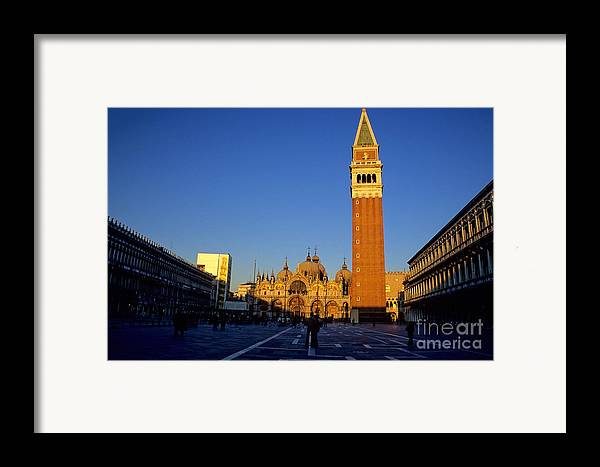 Italy Framed Print featuring the photograph St Marks In Venice In Afternoon Sun by Michael Henderson