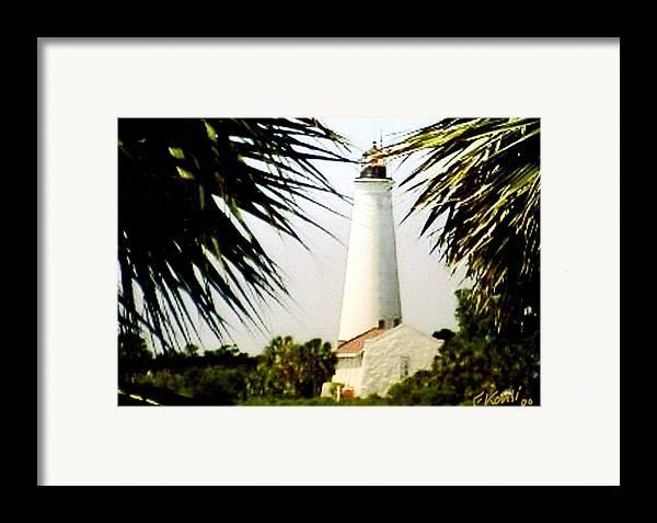 Lighthouse Photographs Framed Print featuring the photograph St Marks Lighthouse by Frederic Kohli