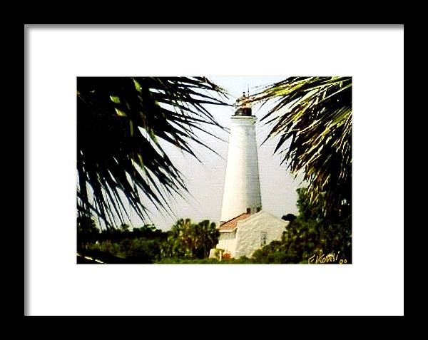 Lighthouse Photographs Framed Print featuring the photograph St Marks Lighthouse by Frederic Kohli