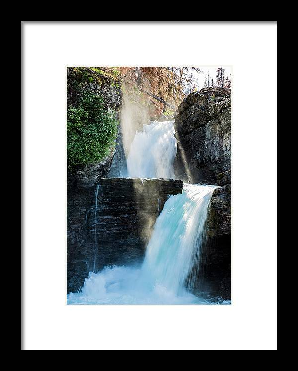 Gnp Framed Print featuring the photograph St Mary Falls by Craig Tata