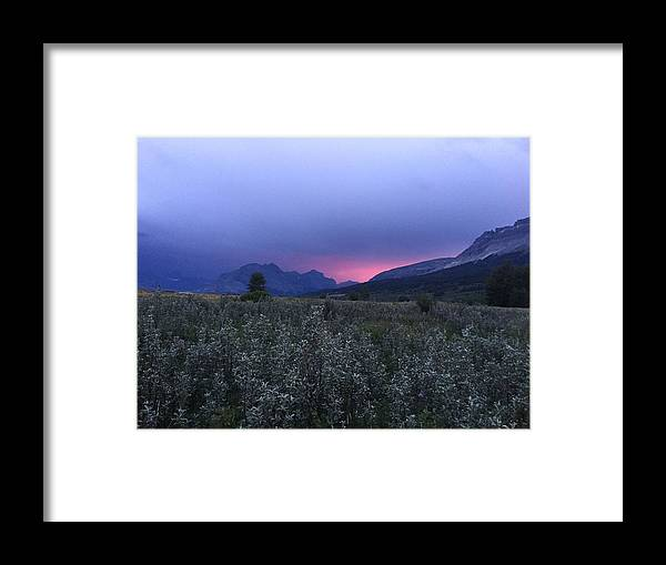 Glacier National Park Framed Print featuring the photograph St. Mary by Kyle Harris