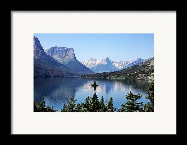 St Mary Lake Framed Print featuring the photograph St Mary Lake - Glacier National Park Mt by Christine Till