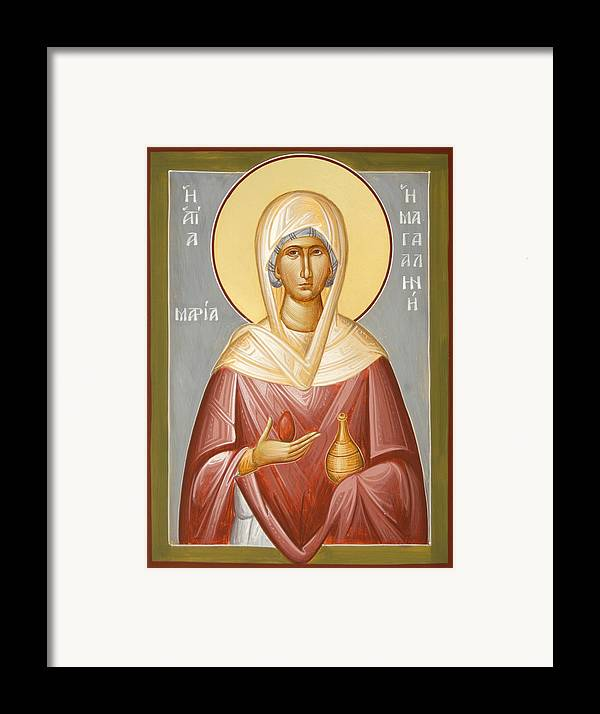 St Mary Magdalene Framed Print featuring the painting St Mary Magdalene by Julia Bridget Hayes