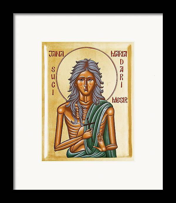 Icon Framed Print featuring the painting St Mary Of Egypt by Julia Bridget Hayes