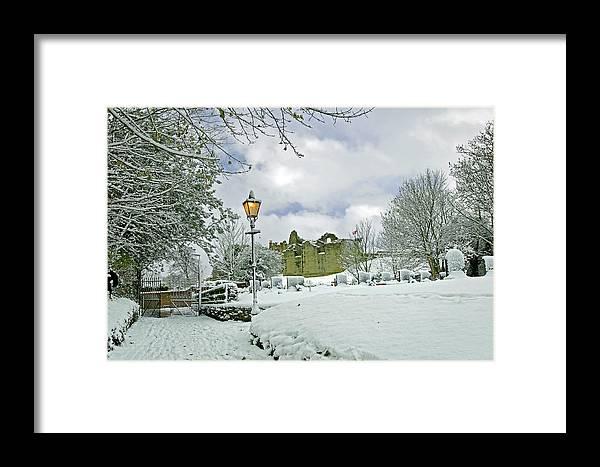 England Framed Print featuring the photograph St Mary's Churchyard - Tutbury by Rod Johnson