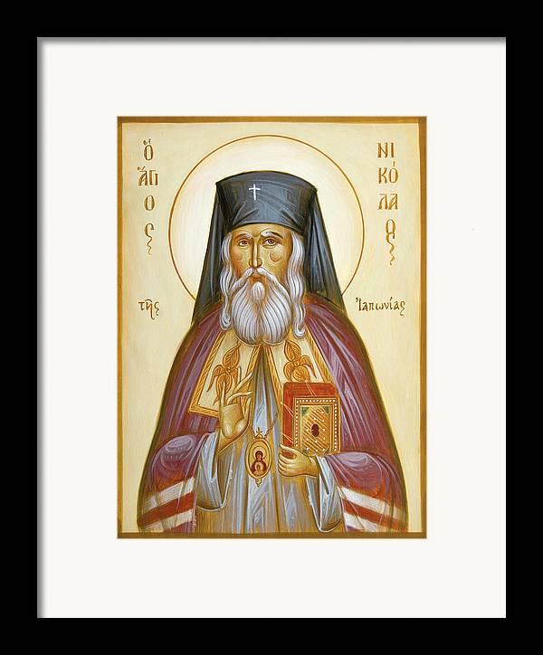 St Nicholas Of Japan Framed Print featuring the painting St Nicholas Of Japan by Julia Bridget Hayes
