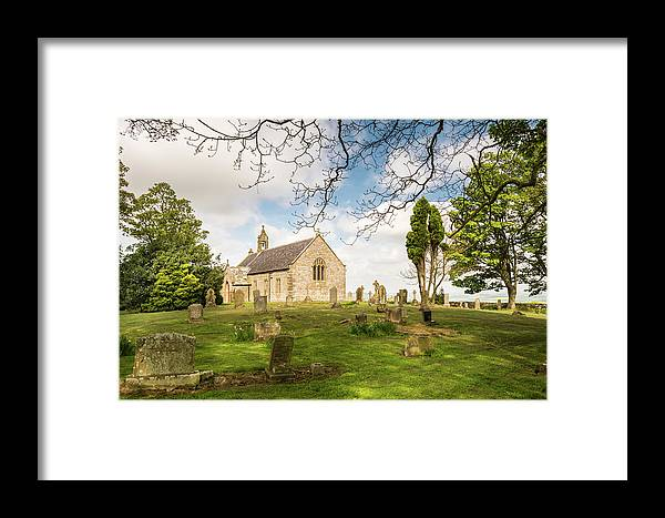 Northumberland Framed Print featuring the photograph St Oswald's Church Graveyard by David Head