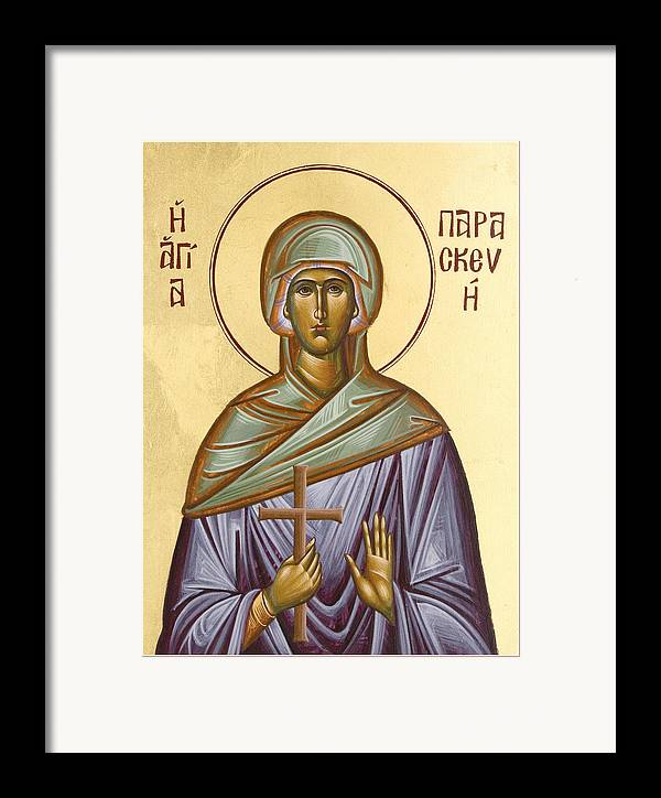 Icon Framed Print featuring the painting St Paraskevi by Julia Bridget Hayes