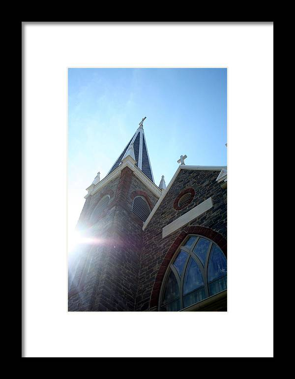 Catholic Framed Print featuring the photograph St Peters Roman Catholic Church by Rebecca Smith