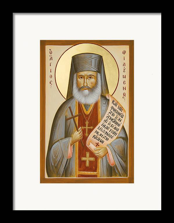 St Philoumenos Framed Print featuring the painting St Philoumenos Of Jacob's Well by Julia Bridget Hayes