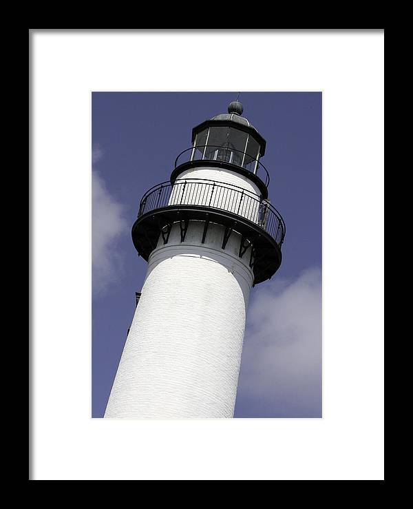 Georgia Framed Print featuring the photograph St Simons Island Lighthouse by Elizabeth Eldridge