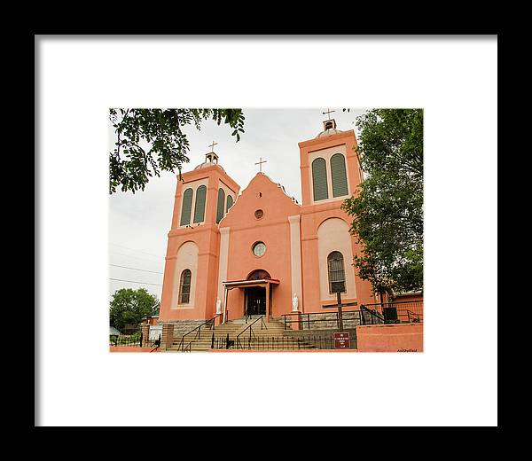 Old Building Framed Print featuring the photograph St Vincent De Paul Catholic Church by Allen Sheffield