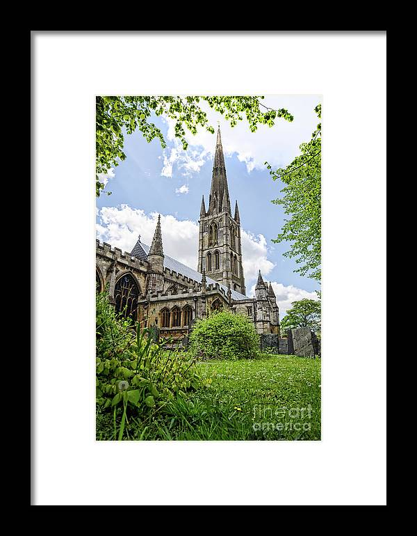 Wulfram Framed Print featuring the photograph St Wulfram's Grantham by Steev Stamford